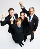 Business people cheering. Team of business people cheering Stock Photography