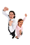 Business People Cheering Royalty Free Stock Images