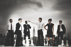 Business People Chess Cityscape Leader Concept Royalty Free Stock Images