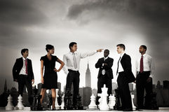 Business People Chess Concepts in the City Stock Images