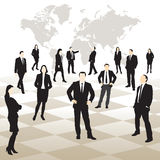 Business people on a chessboard Royalty Free Stock Images
