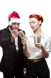 Business people on christmas Stock Photos