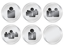 Business people circle icon Royalty Free Stock Images