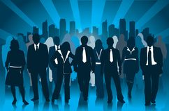 Business people at the city Royalty Free Stock Photos