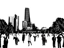 Business people and city. Illustration of business people and city Royalty Free Stock Photos