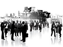 Business people and city Royalty Free Stock Photography