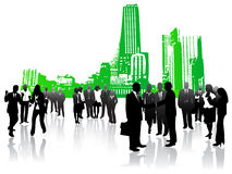 Business people and city Royalty Free Stock Photo