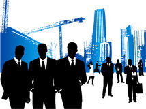 Business people and city. Illustration of business people and city Royalty Free Stock Image