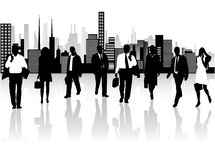 Business people and city Royalty Free Stock Photos