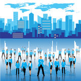 Business people and city Stock Photo
