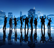 Business People in the City Celebrating Royalty Free Stock Images