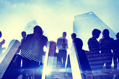 Business People City Meeting Communication Concept Stock Photography