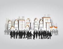 Business people in the city Royalty Free Stock Image