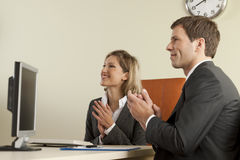 Business people clapping Royalty Free Stock Photo