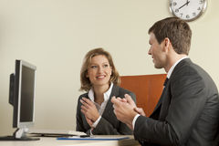 Business people clapping. In the office Stock Images