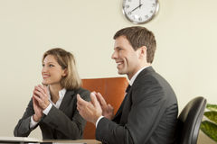 Business people clapping Stock Photography