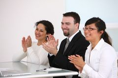 Business people clapping Stock Image