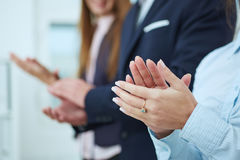 Business people clapping. Royalty Free Stock Photography
