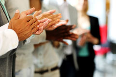 Business people clapping hand Royalty Free Stock Photos