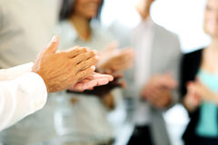 Business people clapping hands Royalty Free Stock Images