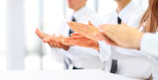 business people clapping hands. Stock Image