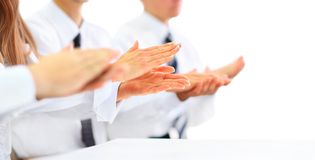 Business people clapping hands. Royalty Free Stock Image