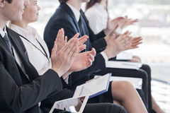 Business people clapping hands Royalty Free Stock Photos