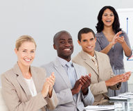 Business people clapping at a presentation Royalty Free Stock Images