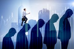 The business people climbing career ladder in business concept Royalty Free Stock Images