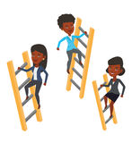 Business people climbing to success. Stock Photography