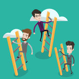 Business people climbing to success. Stock Images