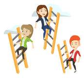 Business people climbing to success. Royalty Free Stock Images