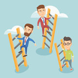 Business people climbing to success. Royalty Free Stock Photography