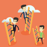 Business people climbing to success. Royalty Free Stock Photos
