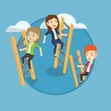 Business people climbing to success. Stock Photos