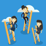 Business people climbing to success. Stock Image