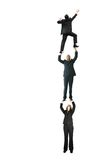 Business people climbing up - growth Royalty Free Stock Images