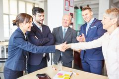 Business people close agreement Stock Photography