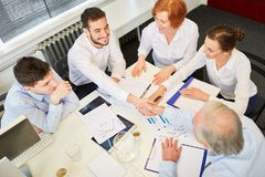 Business people close contract royalty free stock image