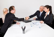 Business people closing the deal Stock Image