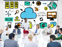 Business People Cloud Computing Brainstorming Discussion Concept Stock Photography