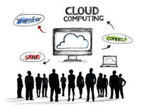 Business People and Cloud Computing Concepts.  Stock Images