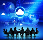 Business People and Cloud Computing Concepts Royalty Free Stock Photo