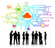 Business People and Cloud Computing Concepts.  Stock Photography