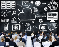 Business People Cloud Computing Seminar Conference Concept.  Stock Images