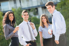 Business People At Coffee Break Stock Image