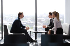 Business people at coffee break Royalty Free Stock Images