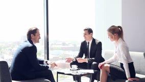 Business people at coffee break stock video