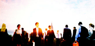 Business People Colleagues Walking Commuting Concept Royalty Free Stock Photo