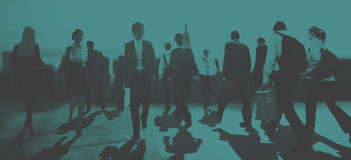 Business People Colleagues Walking Commuting Concept Stock Photography